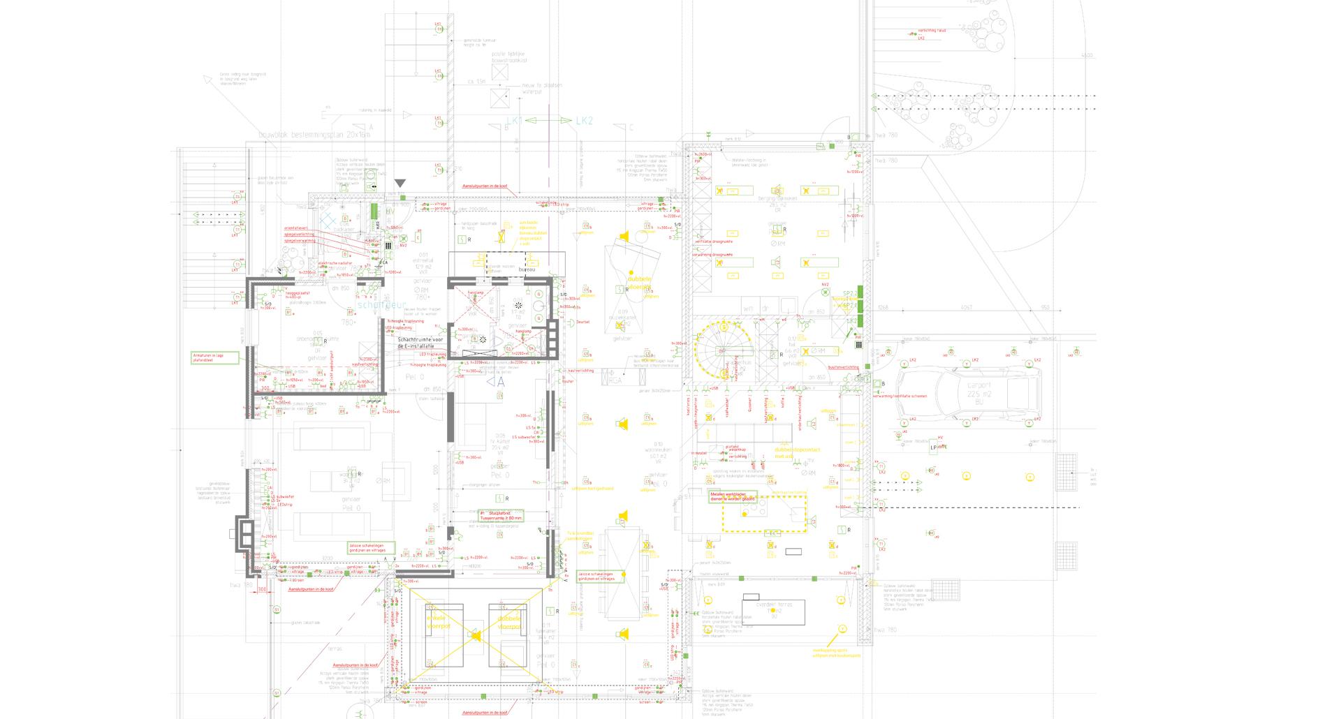 bouwtekening lichtadvies lichtberekening lichtplan verlichting maatwerk