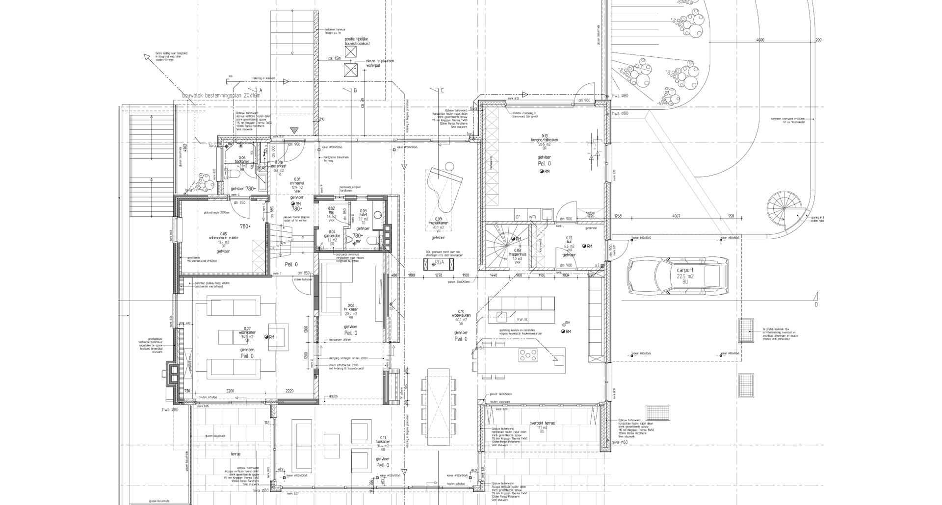 technischetekening bouwtekening bouwplan verbouwen nieuwbouw